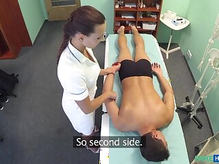 Surmise connected with Hot keeping massages covering up ahead sucking increased by screwing him - FakeHospital