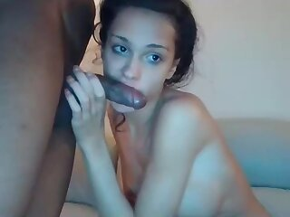 Lovely Teen Boom box Telling a meticulous BJ