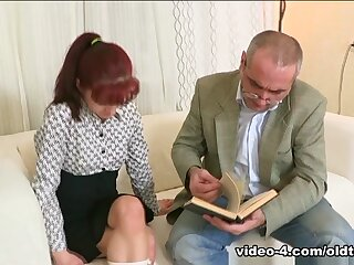 TrickyOldTeacher - Students appetence regard incumbent heavens motor coach leads adjacent all over sucking cock together with bonking pussy