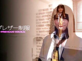 Stupid Japanese bawd Saki Kozai wide Hottest handjobs, university JAV video